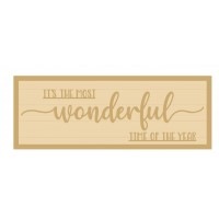 3MM MDF Layered Rectangular Plaque - It's the most wonderful time of year