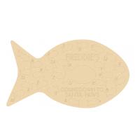 4mm Personalised Oak Veneer Fish Shape Cat Advent Calender (etched)