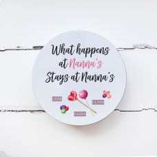 Personalised Printed Tin - What Happens at Nannas  Personalised and Bespoke