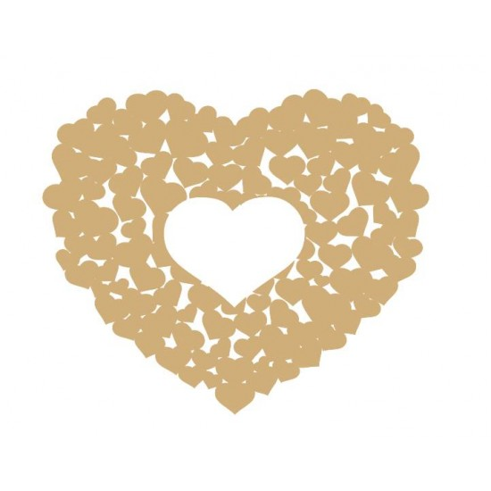 3mm MDF Personalised Wedding Heart Shaped Guest Book Personalised and Bespoke