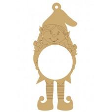 3mm MDF Personalised GIRL Elf Bauble Personalised and Bespoke