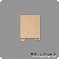 3mm mdf 150mm x 180mm Size Blank Plaque With Feet To Stand