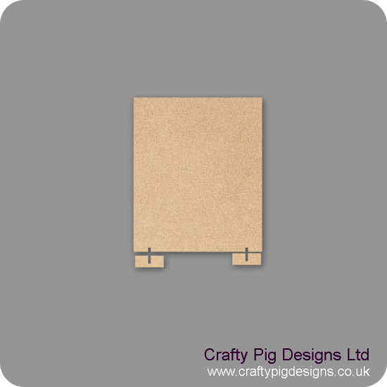 3mm mdf 150mm x 180mm Size Blank Plaque With Feet To Stand Basic Plaque Shapes