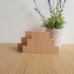 19MM OAK VENEER 3 TIER JOINED SET       (40mm high steps 100mm, 150mm, 200mm) Wooden Blocks, Tea Lights and Stacking Block Sets