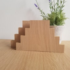 19MM OAK VENEER 4 TIER JOINED SET         (40mm high x 100mm, 150mm, 200mm, 250mm) Wooden Blocks, Tea Lights and Stacking Block Sets