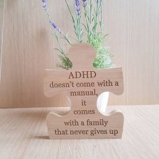 18mm Engraved Oak Veneer Jigsaw - ADHD doesn't come with a manual.. Jigsaws
