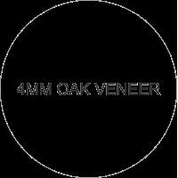 4mm Hanging Oak Veneer Circle 100mm (Pack of 10)