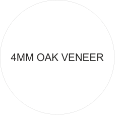 4mm Hanging Oak Veneer Circle Plaque Basic Plaque Shapes