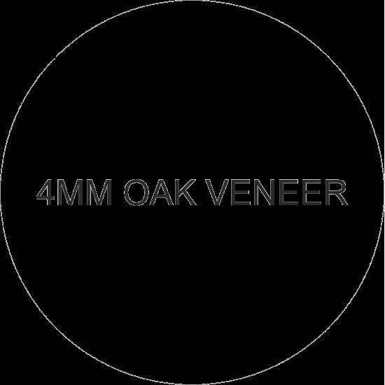 4mm Hanging Oak Veneer Circle (Pack of 10) Basic Plaque Shapes