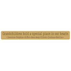 18mm mdf or 19mm OAK VENEER Engraved Grandchildren Hold A Special Place In Our Hearts sign (Style2) 18mm MDF Signs & Quotes