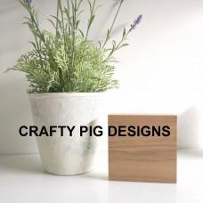 19mm Freestanding Oak Veneer Size 4 Plaque Basic Plaque Shapes