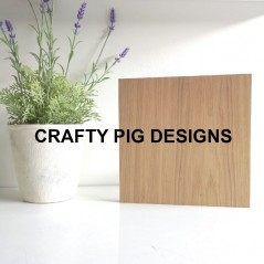 19mm Freestanding Oak Veneer Size 5 Plaque Basic Plaque Shapes