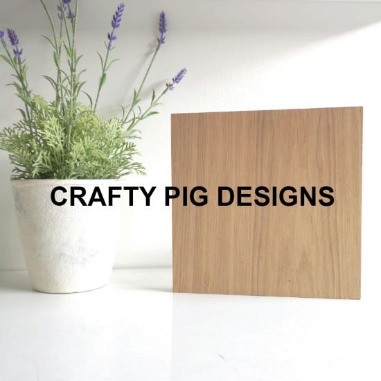 4mm Hanging Oak Veneer Size 5 Plaque Basic Plaque Shapes