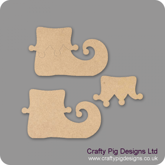 18mm Pixie Boot (18mm boot plus 3mm edge piece) 18mm MDF Craft Shapes