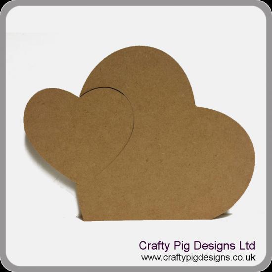 18mm Freestanding Heart with Interlocking Heart 18mm MDF Interlocking Craft Shapes