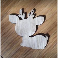 Baby Deer Pack of 5 (Boy/Girl option) 10cm in Oak Veneer Animal Shapes