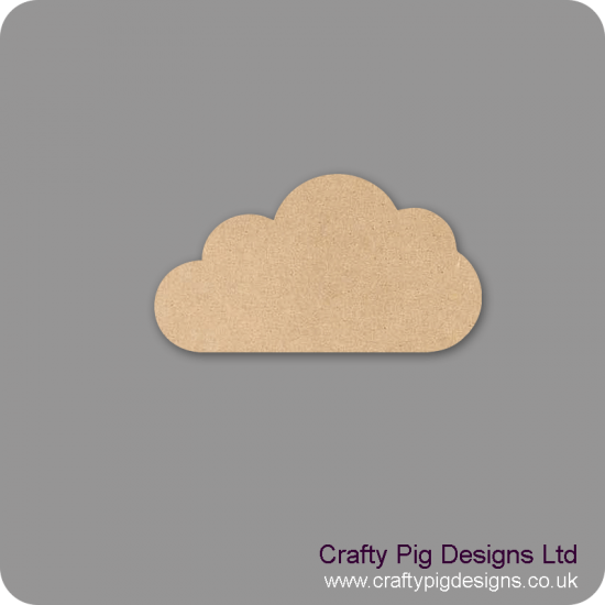 18mm Cloud 2 (by width) 18mm MDF Craft Shapes