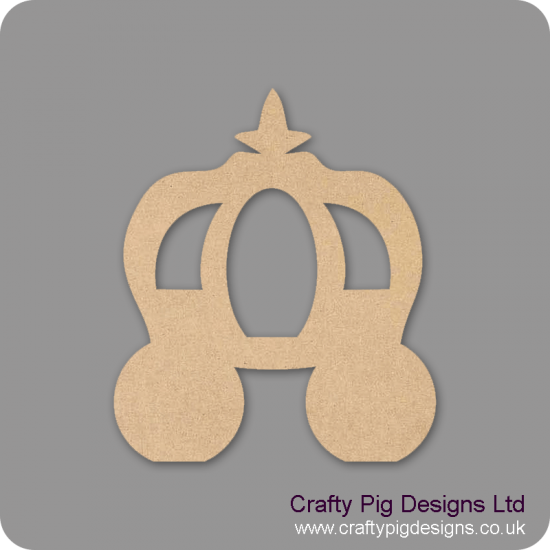 18mm Fairy Carriage 18mm MDF Craft Shapes
