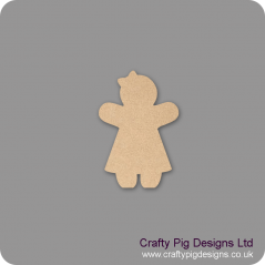 3mm MDF Gingerbread Girl shape (Pack of 5) Christmas Shapes