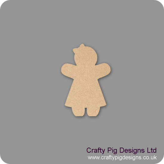18mm Freestanding Gingerbread Girl 18mm MDF Christmas