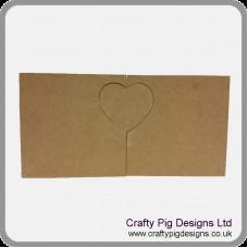 18mm 2x  Freestanding Blocks With 1 Interlocking Heart 18mm MDF Interlocking Craft Shapes