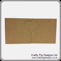 18mm 2x  Freestanding Blocks With 1 Interlocking Heart 18mm MDF Interlocking Craft Shapes
