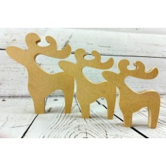 18mm Reindeer Shape 18mm MDF Christmas