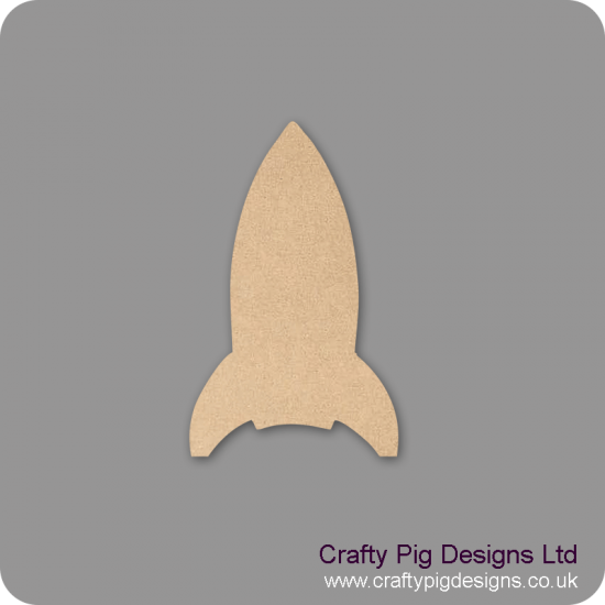18mm MDF Rocket 18mm MDF Craft Shapes