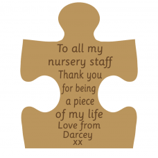 18mm Engraved Jigsaw - To all my nursery staff (not personalised) Teachers