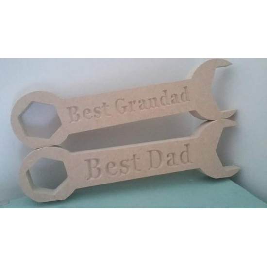18mm  Engraved Spanner (choice of engraving) Fathers Day