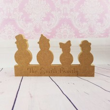 18mm  Engraved Snowmen Family Christmas Shapes