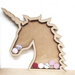 18mm Unicorn Head Reward Chart 18mm MDF Craft Shapes