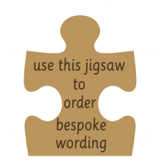 18mm Engraved Jigsaw - Any wording  Personalised and Bespoke