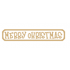 4mm Merry Christmas Street Sign (Funky Font) (hanging version)