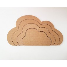 18mm Interlocking Cloud Set 18mm MDF Interlocking Craft Shapes