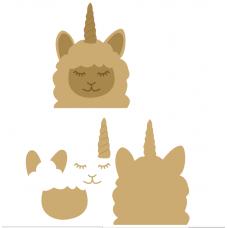 6mm 3D Llamacorn Animal Shapes