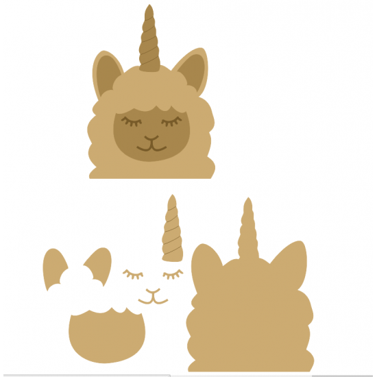 6mm 3D Llamacorn Animal Shapes