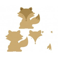 6mm 3D Fox Animal Shapes