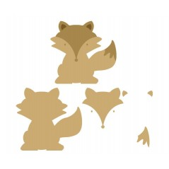 18mm 3D Fox (200mm) Animal Shapes