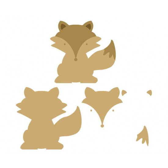 6mm 3D Fox Animal Shapes