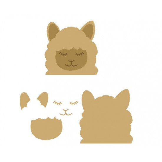 18mm 3D Llama Head (200mm High) 18mm MDF Animal Shapes 3D and Engraved