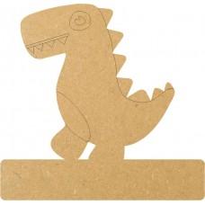18mm Engraved T Rex On Base 18mm MDF Engraved Craft Shapes