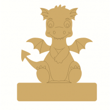 18mm Engraved Sitting Dragon on Blank Base For Vinyl 220mm 18mm MDF Engraved Craft Shapes