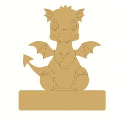 18mm Engraved Sitting Dragon on Blank Base For Vinyl 220mm