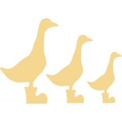 18mm Ducks in Wellies 18mm MDF Animal Shapes 3D and Engraved