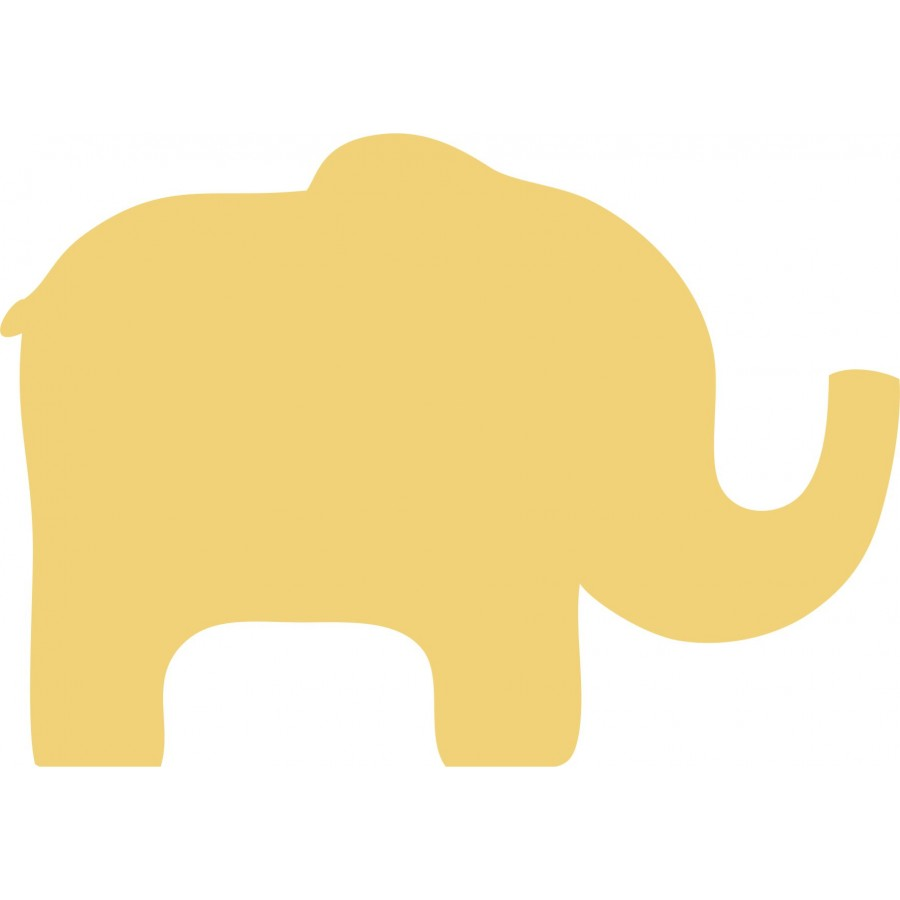 Pack Of 5 Freestanding  Wooden 18mm MDF Cute Elephant Shape 15cm Wide