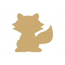 18mm Engraved Fox 200mm 18mm MDF Engraved Craft Shapes