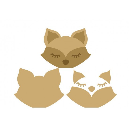 18mm 3D Fox Head (200mm wide) Animal Shapes