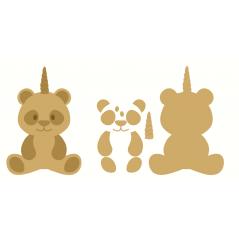 18mm 3D Pandacorn  Unicorn Items