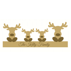 18mm Engraved Reindeer Family Christmas Shapes